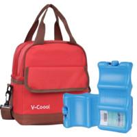 V-COOOL 17-334414 背奶包+蓝冰2块 红色