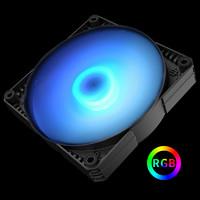 METALLICGEAR普力魔12/14CM 12V RGB灯控静音电脑机箱散热LED风扇 12/14cm RGB静音风扇 12CM_3个风扇_风量加强型