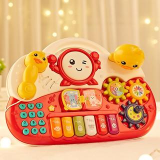 BEI JESS 贝杰斯 小黄鸭打地鼠手敲琴声光玩具