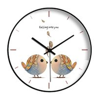 米囹 北欧创意挂钟星空卡通静音时钟表现代简约客厅钟表家用石英钟壁钟