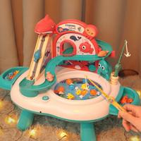 京东PLUS会员 : BEI JESS 贝杰斯 电动磁性钓鱼玩具10条小鱼+3条大鱼+2根鱼竿