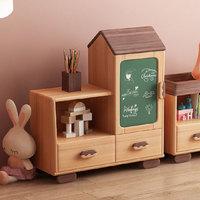 新品发售:UVANART 优梵艺术 童趣简约实木矮书柜
