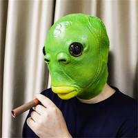 玛利鸭 乳胶搞笑解压绿鱼人头套