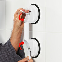 德国浴室安全扶手浴缸洗澡免打孔旋转吸盘老人防摔防滑把手卫生间