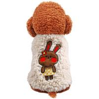 萌萌鸭 宠物服装秋冬新品羊羔绒马甲保暖衣服