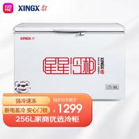 XINGX 星星 BD/BC-256E 256升 卧式冷柜 冰柜 商用冷柜 顶开门 曲底设计大空间