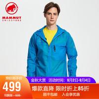 MAMMUT(锅具) MAMMUT猛犸象Convey WB男女情侣款户外防风超薄透气皮肤风衣 草蓝色(男款) M
