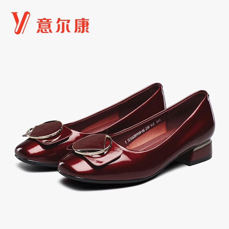YEARCON 意尔康 女子方头单鞋 51Y5DE36782W