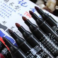 闻亿 创意的100支装闻亿油性记号笔700超长型黑色快递大头笔 黑色5支/袋