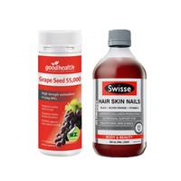 Swisse 斯维诗 胶原蛋白液体口服液 500ml + 葡萄籽胶囊 120粒