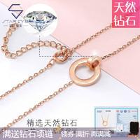 StarEye 星眸 钻石项链-罗马数字双环-合金