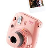 INSTAX Instax Mini 9 Clear Pink 即时成像相机 包括10 张录片