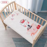 贝肽斯 宝宝隔尿垫婴儿防水可洗儿童透气四季通用纯棉隔夜床单大号 西芙喵 45x30cm