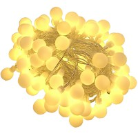 鸣洲 led小圆球灯 彩色电池款 3m