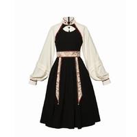 十三余 小豆蔻儿 繁光 国风绣花可拆卸蝴蝶结连衣裙 SYS141984 黑色