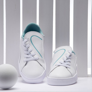 PUMA 彪马 Basket 女童中大童轻便耐磨休闲运动鞋小白鞋板鞋