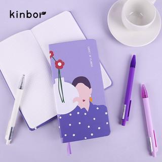 kinbor 手账本创意文具周计划便携式笔记本子记事本繁花似锦系列手帐本-不负花期DT53073