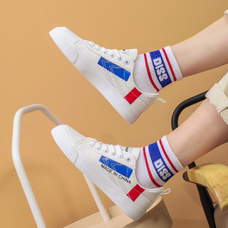 Feiyue. 飞跃 新款帆布鞋男女鞋时尚潮流小白鞋鞋子