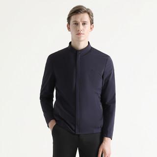 SEVEN 柒牌 秋冬装 经典小立领时尚夹克衫简约纯色耐磨男士夹克外套