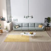 新品发售:全友 102629B 北欧简约布艺沙发 左2+右2