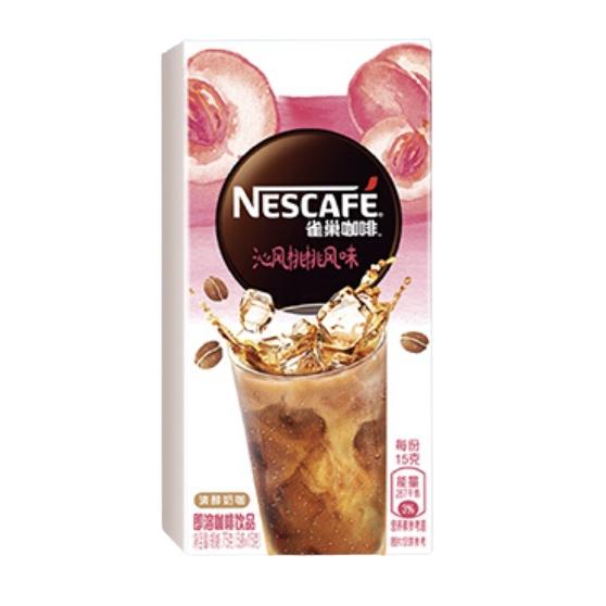 Nestlé 雀巢 Nestle)速溶咖啡 特调果萃 沁风桃桃风味 清醇奶咖 即溶 冲调饮品 5条*15g