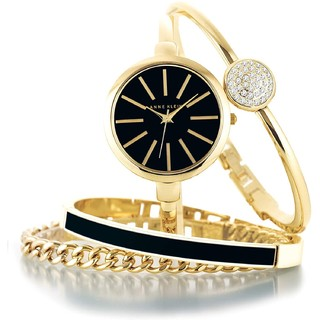 Prime会员 : ANNE KLEIN 安妮·克莱因 魅力潮流系列 AK-1470GBST 女士手表手链套装