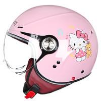 AVA 艾维爱 摩托车头盔 浅粉音悦 S 摩托车骑行装备