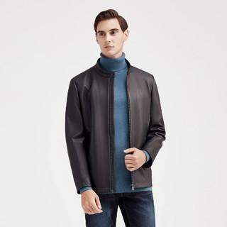 SEVEN 柒牌 男式皮衣休闲商务冬季新款立领皮夹克外套