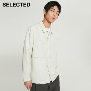 SELECTED 思莱德 夏新款含天丝™纤维宽松潮长袖衬衫男S|4212PQ004