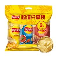 Lay's 乐事 薯片超值分享装 3口味 70g*3袋(原味70g+红烩70g+烧烤70g)