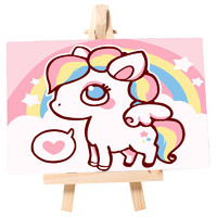 自油自画 数字油画diy手绘填色油彩画 10*15cm 多款可选
