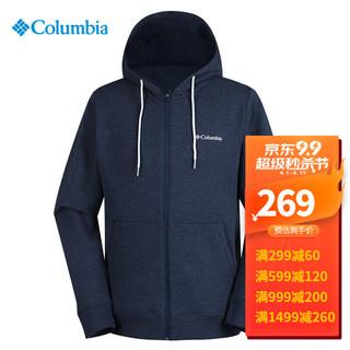 Columbia 哥伦比亚 长袖T恤男士秋季新款户外运动时尚保暖透气舒适休闲连帽开衫外套AE0254