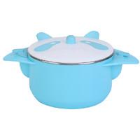 9i9 久爱久 宝宝餐具儿童碗注水保温吸盘碗婴儿不锈钢餐具套装熊猫款