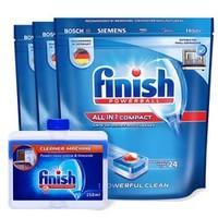 finish 亮碟 小型洗碗机多效合一洗碗块礼盒装(小多效洗碗块*3+清洁剂)