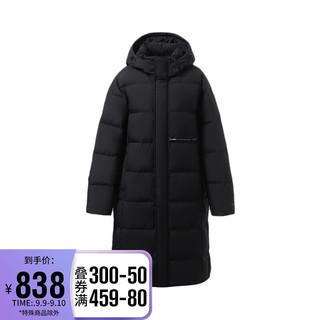 LI-NING 李宁 情侣装羽绒服2021训练系列男女同款白鸭绒长羽绒服AYMR448 黑色-1 3XL