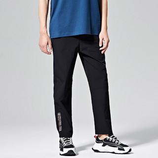 Kappa 卡帕 21年秋季新款时尚休闲男运动长裤梭织高腰直筒卫裤