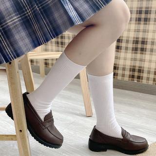 汝汝同學 jk制服 專用螺紋小腿襪