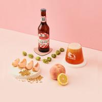 斑马精酿啤酒桃离星球啤酒桃子风味果啤330mlx6瓶装