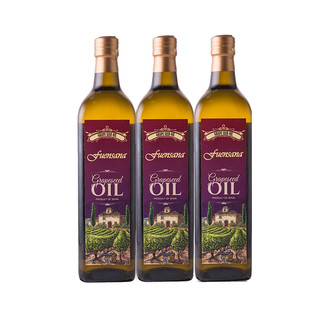 fuensana 西班牙fuensana进口葡萄籽油1L*3瓶 食用烧菜油烘焙黄油