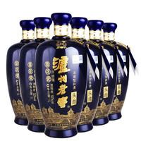 LUZHOULAOJIAO 泸州老窖 蓝花瓷头曲 52度 浓香型白酒 1L*6瓶整箱