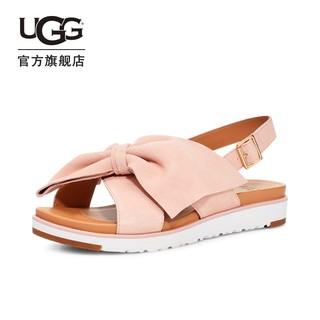 UGG 2021夏季女士凉鞋平底舒适休闲蝴蝶结时尚厚底凉鞋 1101047