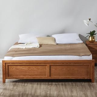 LUOLAI 罗莱家纺 床垫保护垫防滑折叠床褥子 W舒柔纤维床护垫 咖色 150*200cm
