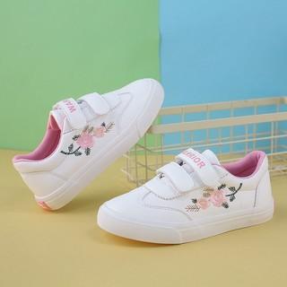 WARRIOR 回力 童鞋2021春季新款儿童帆布鞋子女童小白鞋宝宝男童学生运动鞋