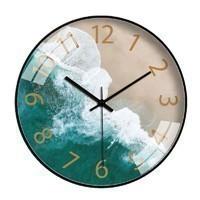 挂钟静音时钟表家用石英钟壁钟 8英寸(直径20厘米)