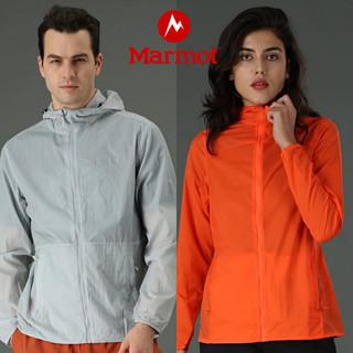 Marmot 土拨鼠 2021新品户外春夏运动男女轻薄休闲连帽皮肤衣
