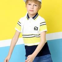 Annil 安奈儿 男童短袖T恤 黄白
