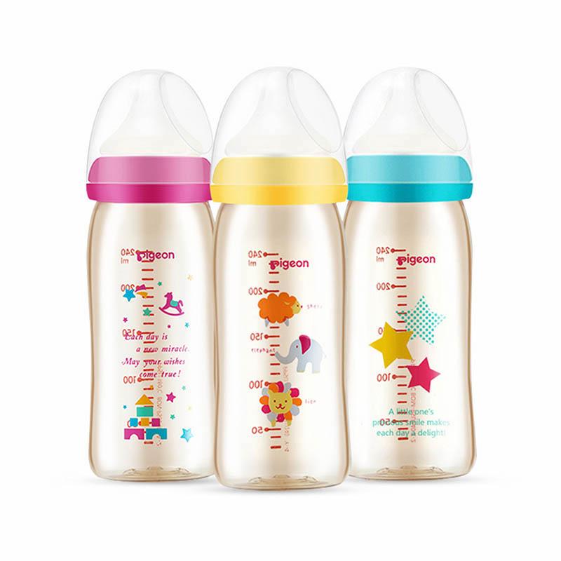 经典自然实感系列 彩绘奶瓶 240ml