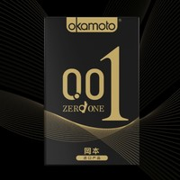 PLUS会员:okamoto 冈本 黑金尊享组合避孕套 10片(001系列2+透薄2+激薄5)