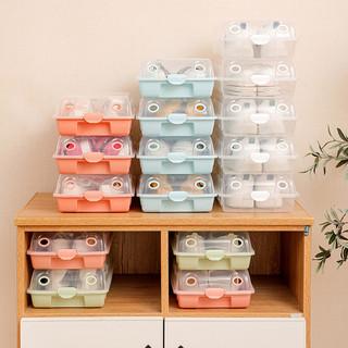tujia 途家 加厚抽屉式鞋盒收纳盒透明鞋盒神器整理箱塑料简易鞋架收纳盒