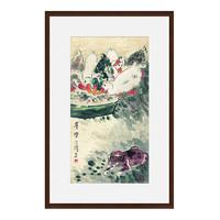 Artron 雅昌 徐悲鸿 新中式古典动物国画《群乐图》76×116cm 宣纸 茶褐色